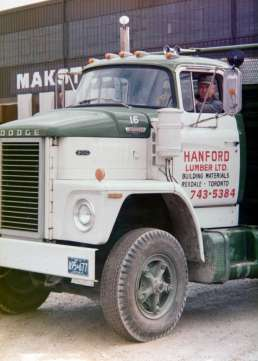 Hanford Lumber delivery truck